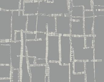 Imprint Maze in Fog, Katarina Roccella, Art Gallery Fabrics, 100% Cotton Fabric, IMP-20452