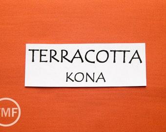 One Yard Terracotta Kona Cotton Solid Fabric from Robert Kaufman, K001-482