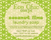 Coconut Lime laundry soap - Natural laundry soap w/Coconut Lime Fragrance - Vegan laundry soap
