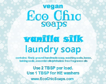 Vanilla Silk laundry soap - Natural laundry soap w/ Vanilla Silk Fragrance - Vegan laundry soap