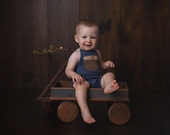 6-9 Months Blue Halter Short Overalls,6-9 months Boys' Clothing,Kids Photography Props,Sitters Overalls,Sitters Props, Baby Outfits