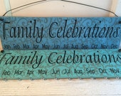 """Birthday Board - """"Family Celebrations"""" or """"Celebrating God's Blessings"""" on Swirl Background - Discs Sold Separately"""