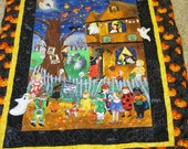 Trick or Treat Halloween Throw Quilt