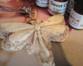 """Artisan Designed Dragonfly Diffuser Pendant, Absorbable Ceramic, 24"""" Hemp Necklace, Choose a 100% Organic/Wildcrafted Essential Oil, Aroma"""
