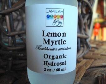 Hydrosol - Lemon Myrtle - Skin Toner, Anti-microbial, Anti-bacterial, Uplifting Aroma, 100% Organic - Oily, Acneic Skin Care, Hydrosol