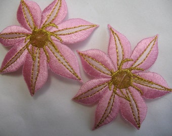 FLOWERS APPLIQUE  PATCH  Iron On