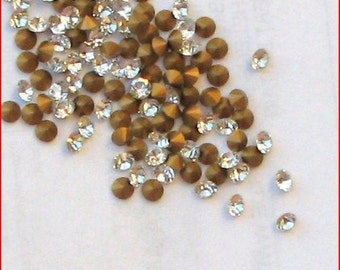 72 - Swarovski Crystal 28pp Round Rhinestones Pointback Art.1012  3.5mm - 3.6mm