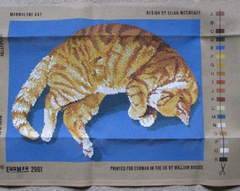 Ehrman Tapestry Needlepoint Kit Marmalade Cat