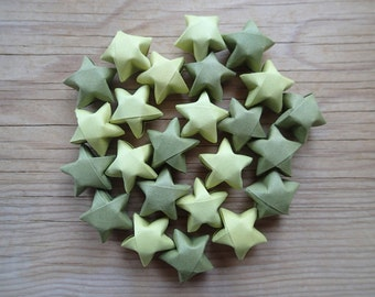 Irene's Greens Origami Star Mix, set of 24.