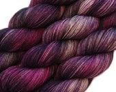 hand dyed yarn PUNK PRINCESS pick your base - sw merino bfl silk nylon stellina fingering dk