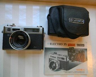 CAMERA, Yashica Electro 35 GSN Camera, Case,and Instruction Manual