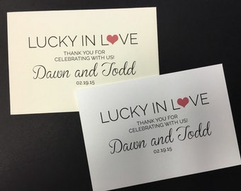 Lucky In Love - Personalized Lottery Ticket Favor Envelope