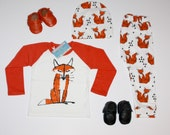What does the FOX say? 3 piece outfit for toddlers infants babies, photography prop, unisex outfit, harem pants, BEARS, boys clothing, prop