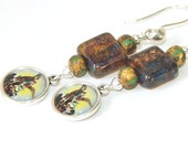 Saint Michael Earrings, Tiny Medals, Religious Jewelry