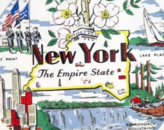 Vintage New York Souvenir Plate The Empire State