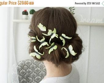Christmas SALE Yellow Hair Pins Set Of 3 Wholesale Butterflies Hairpins Accessory Decoration Butterflies Hair Piece Headpiece Bridal Wedding
