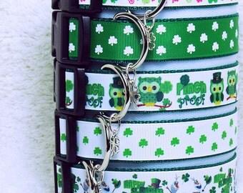 Dog Collars, St. Patty's, St. Patrick's Day