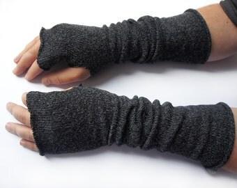 Long Fingerless Gloves for men, Thumbhole Arm Warmers, gifts for men