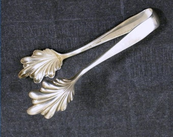 S Kirk Son-Old Maryland-Plain Ice Tongs-Sterling Silver 1850-84.3g