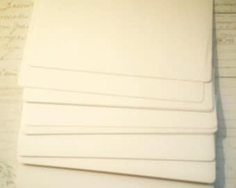 """Vintage Rolodex Cards White - 3 X 5"""" Cards- Scrapbooking Journals Planners Paper Ephemera Address Cards Note Cards Mixed Media"""