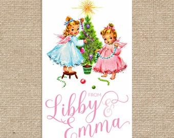 Digital Personalized Sibling Gift Tags