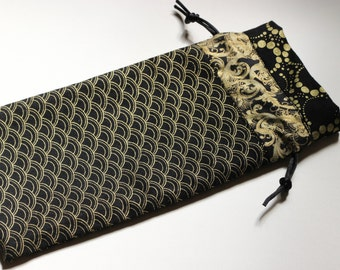 Black and Gold Deco Tarot bag - medium