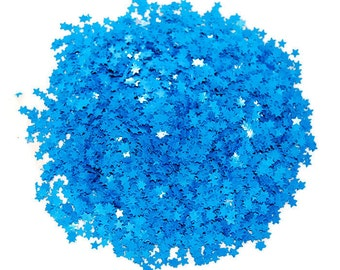 Blue SOLVENT RESISTANT GLITTER  Stars - 1 Fl. Ounce for Glitter Nail Art , Glitter Nail Polish and Glitter Crafts