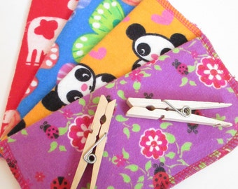 Cloth Napkins--Set of 4--Bright & Colorful Animal Mix--Regular--Ready to Ship