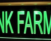Farms Trees Award Trophy Advertising Company Business Logo SAMPLE ONLY (design not for sale) Acrylic Lighted Edge Lit Led Sign USA Original