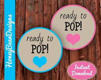 Instant Download PRINTABLE Ready to Pop Tags Labels Stickers