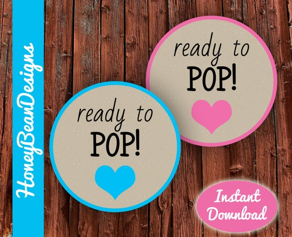 Instant download printable ready to pop tags labels stickers for Ready to pop stickers template