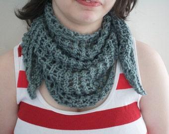 Grey Knit Scarf Shawl