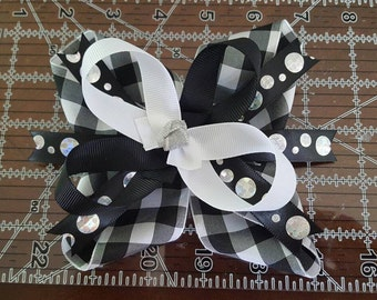 "5"" Inside out Design Stacked Boutique Hairbow"