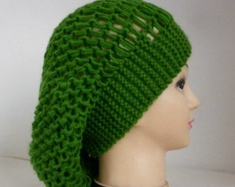 Green Knit Hat, Winter Hat, Slouchy Beanie, Knit Beanie, Womens Hats, Chunky Knit Hat, Girl Gifts, Teen Gift Gift Ideas For Her