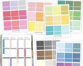 Heart Checklist, Printable Planner Stickers, Instant Download, PDF JPG SVG, Printable Checklist Sticker
