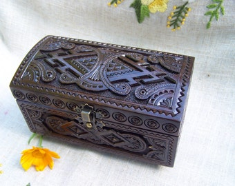 Jewelry box Ring box Wooden box Wood box Jewellery box Jewelry organizer Jewelry boxes Wood carving Wooden jewelry box Jewelry box wood B20