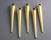 CHARM-GOLD-SPIKE - Shinny Gold Plated Spike Charm - 6 pcs