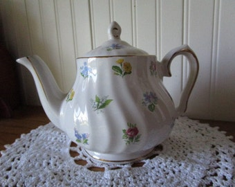 Spring Flowers Teapot, Vintage Salem China, Tea Time, Small 1 Cup Size Teapot