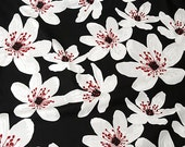Anemone- Cotton Fabric By The Yard- Scandinavian Design- For Curtains, Roman Blinds, Pillow covers etc.