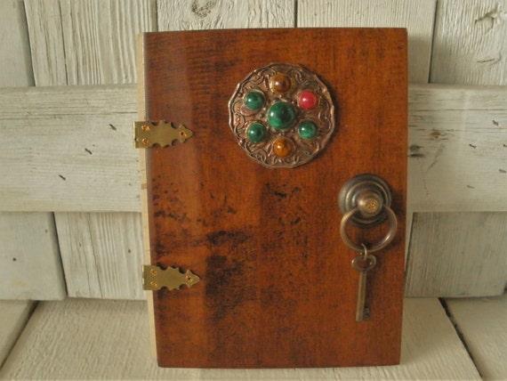 Wooden fairy elf door vintage celtic medallion upcycled for Wooden elf door