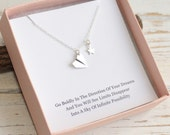 Sterling Silver Paper Airplane and Star Necklace...  Graduation Inspirational Sentiment Card