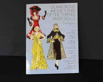 Vintage Paper Dolls, 1930s Movie Stars, Tom Tierney Paper Dolls, Toy Dolls, Pretend Play, Collectible Toy