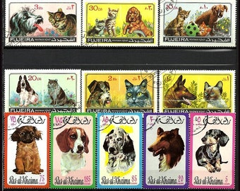 Cat and dog stamps for your collection