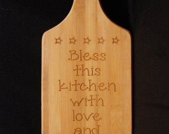 Bless This Home, Cutting Board, New Home Gift, Wood Cutting Board, Chopping Board, Gift for Cooks