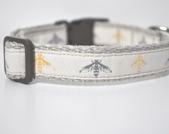 Hemp Webbing Dog Collar  - 'Nature Lover'  - 50% Profits to Dog Rescue - Small to Medium Size