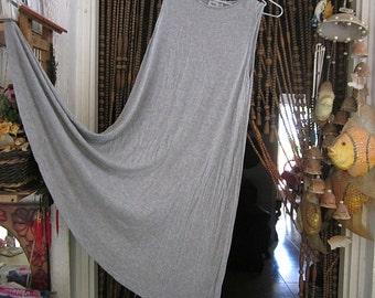 Casual Summer Halter Dress in Light Gray, Vintage - Size: US 4, UK 8, EU 36