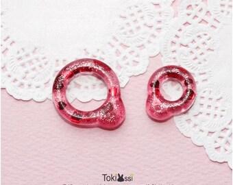Tokissi / Handmade Pull Ring for blythe doll / heart / Resin