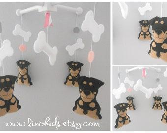 Baby Crib Mobile-Dogs Mobile, Rottweiler Mobile- Custom Pets Mobile