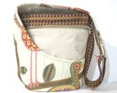 Crazy Ole Bird Pattern Shoulder Bag / Cross Body, Upholstery Fabrics