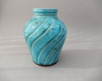 Turquoise Vase - Terracotta Pottery Vase